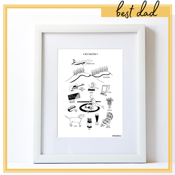 No.1 Dad Print *PERSONALISED*