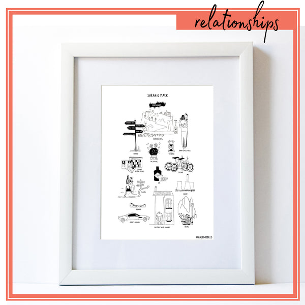 Relationship Print *PERSONALISED*