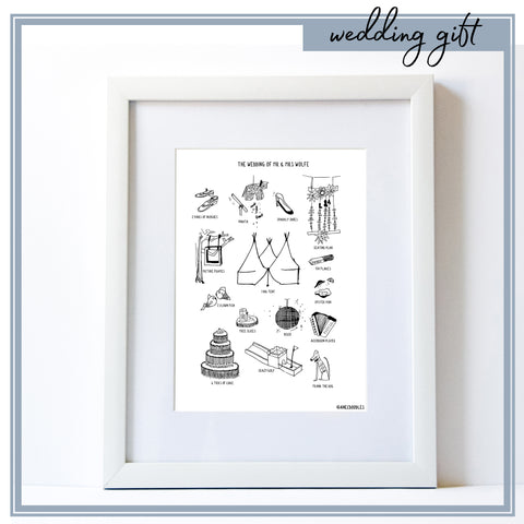 Wedding Day Print *PERSONALISED*