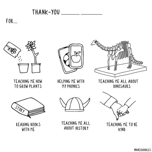 Teacher Thank-you - Persoanlised