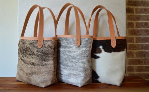 Hair-on Cowhide Leather Totes - Looking for a well made, lasting Tote or Handbag. Look no further.