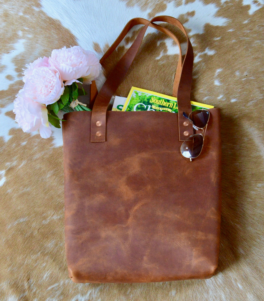 Totes: Unlined Leather