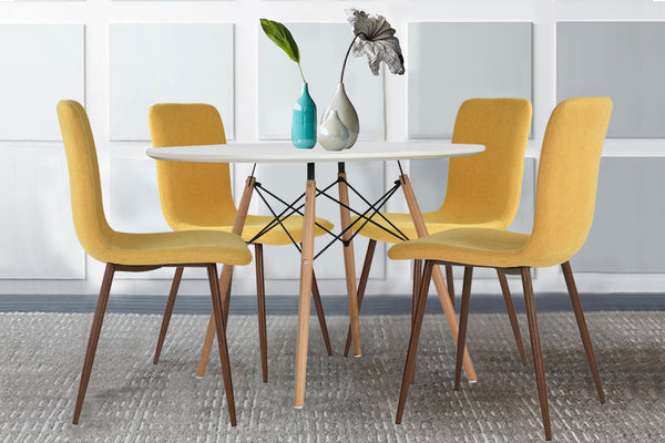 coavas modern dining chairs eames organic furnishing home yellow