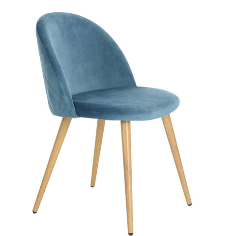 ZOMBA BLUE VELVET ACCENT CHAIRS SET OF 2 UK