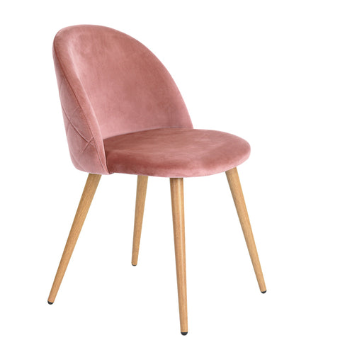 ZOMBA ROSE VELVET ACCENT CHAIRS