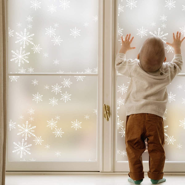 Frosted Snowflakes Design Window Film