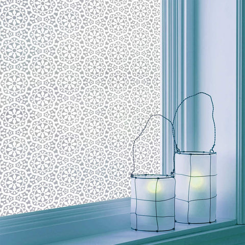 "Arabesque Pattern Decorative Window Film 17.7"" x 78.7"""