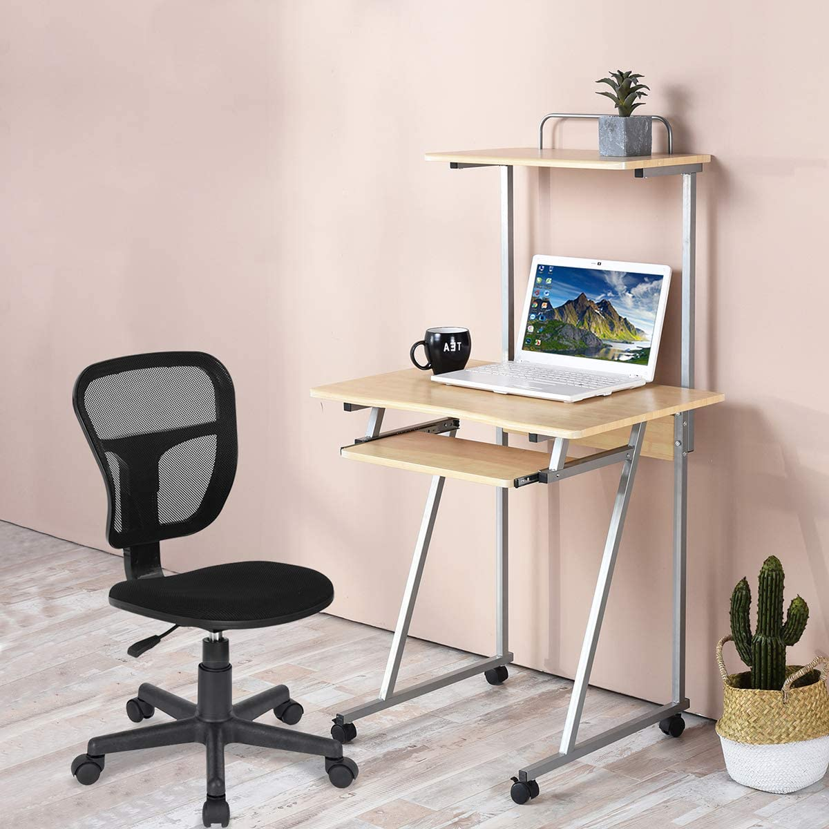 Aingoo Workstation Desk with Casters