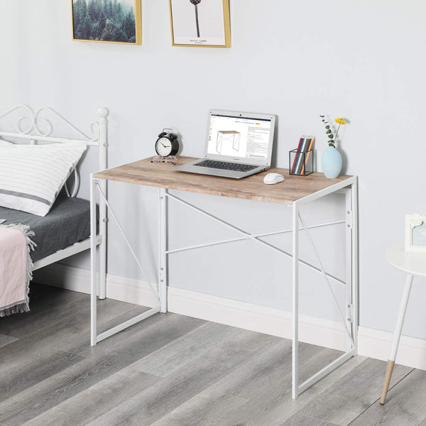 TARRANT WHITE & OAK FOLDING DESK