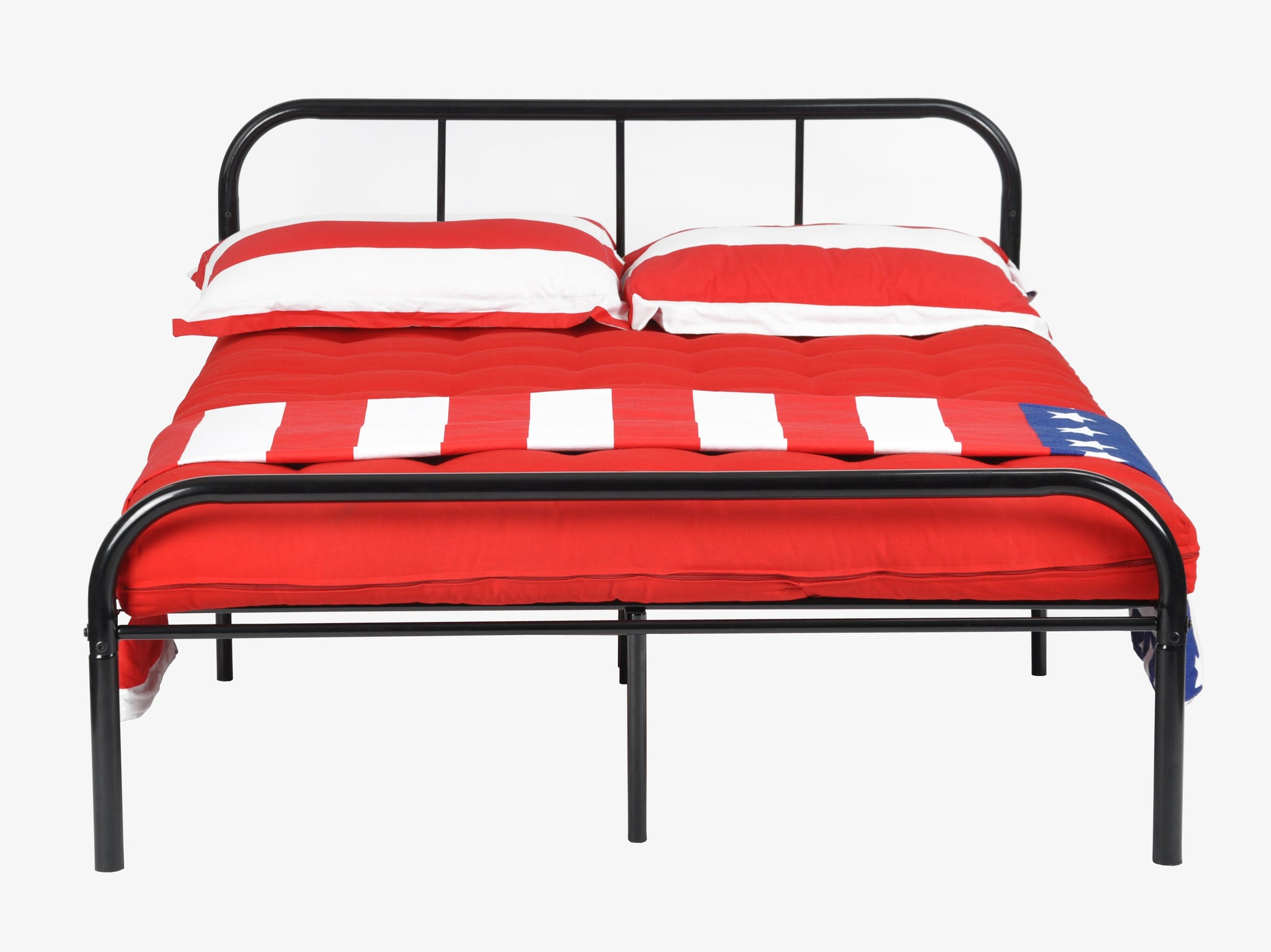 MILO DOUBLE INDUSTRIAL METAL BED FRAME