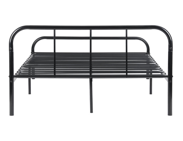 coavas metal frame double bed black industrial