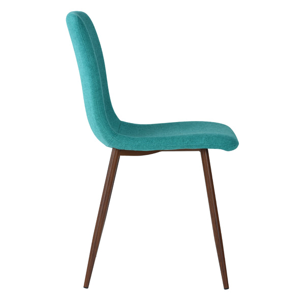 SCARGILL GREEN TEAL DINING CHAIRS SET OF 4