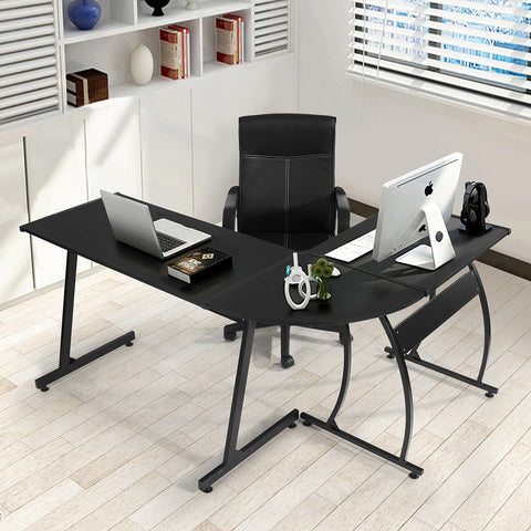 ARLETTE L SHAPED GAMING DESK BLACK