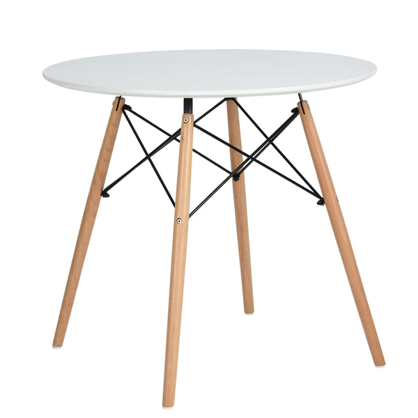 CHAD WHITE ROUND DINING TABLE UK