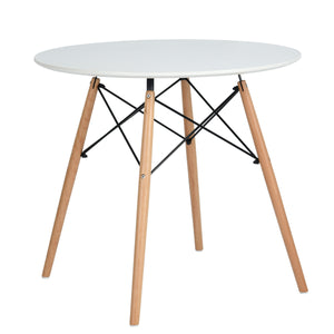 CHAD WHITE ROUND DINING TABLE