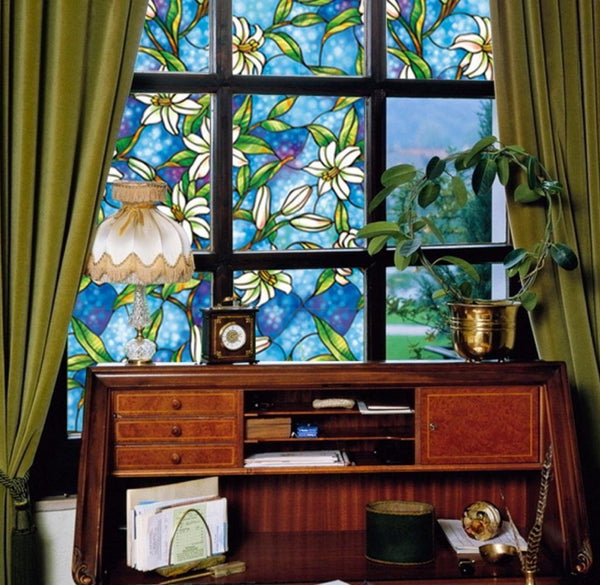 Stained Privacy Decorative Window Film