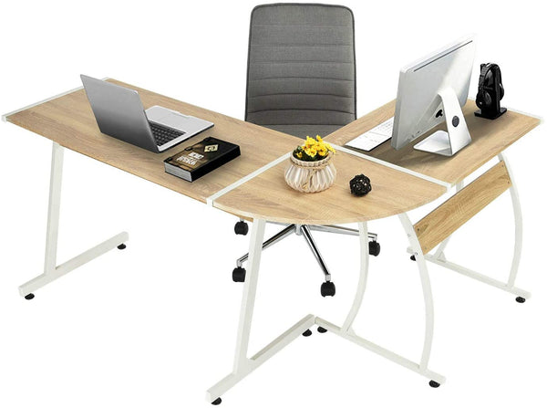 ARLETTE L SHAPED GAMING DESK BEECH UK