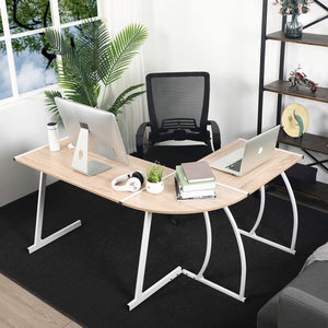 ARLETTE L SHAPED GAMING DESK BEECH