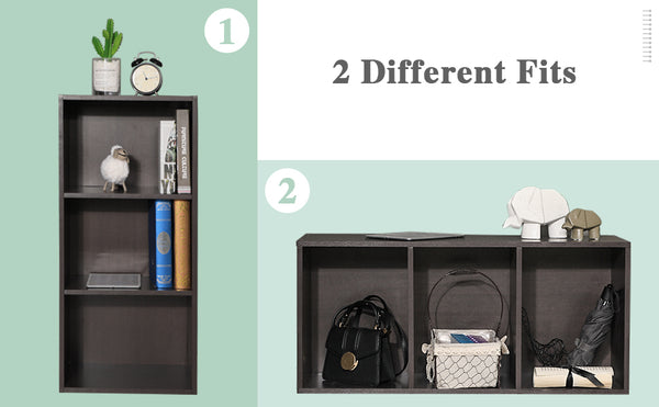 MERVIN 3-TIER STORAGE MINI BOOKCASE ORGANIZER