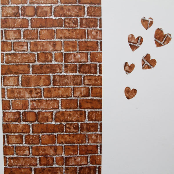 Brick Wallpaper Decoration Peel & Stick (orange)