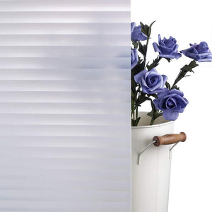 "FROSTED BLINDS PRIVACY WINDOW FILM 35.5""x 78.7"""