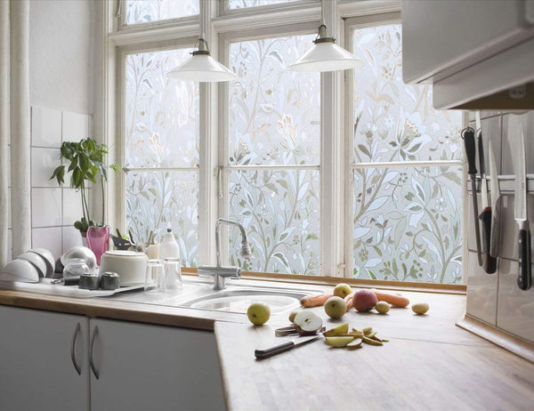 Floral Etched Decorative Window Film