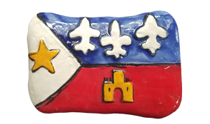Acadian Flag Ceramic Plaque