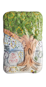Mardi Gras Ceramic Plaque: Bead Tree