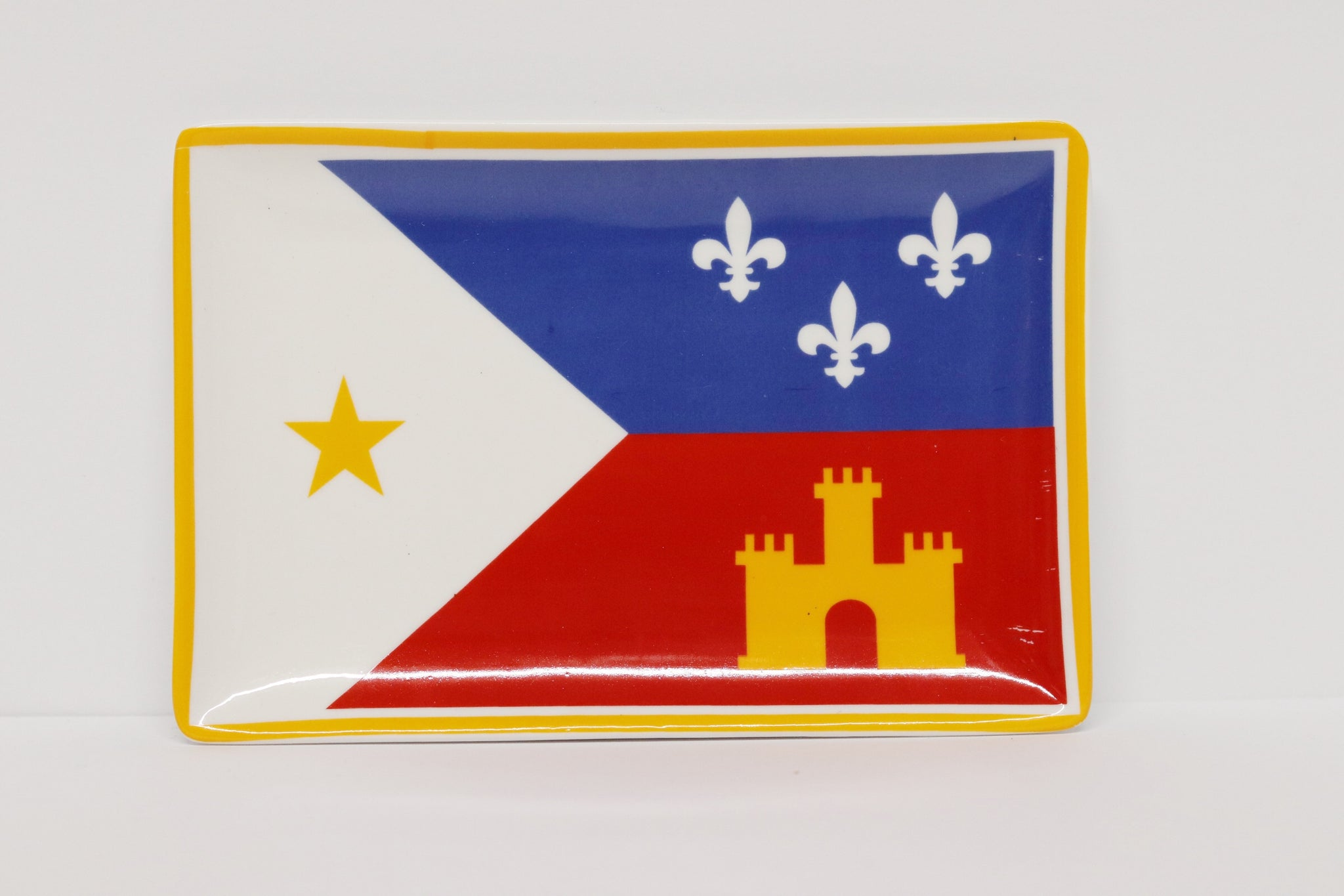 The Parish Line - Acadiana Flag Trinket Tray