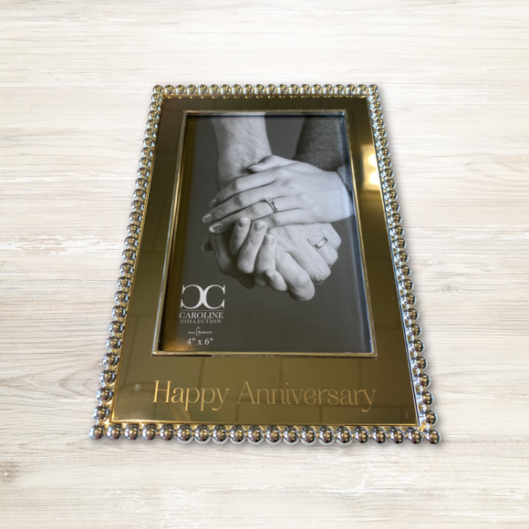 Silver Happy Anniversary Picture Frame