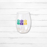 Holiday Themed Shatterproof Wine Glass