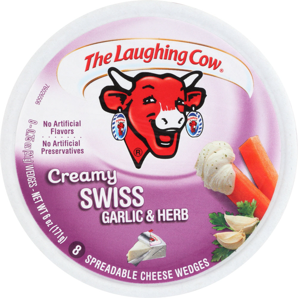 Laughing Cow: Cream Swiss Garlic And Herb 8 Wedges, 6 Oz