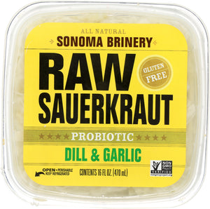 Sonoma Brinery: Raw Sauerkraut Dill And Garlic, 16 Oz