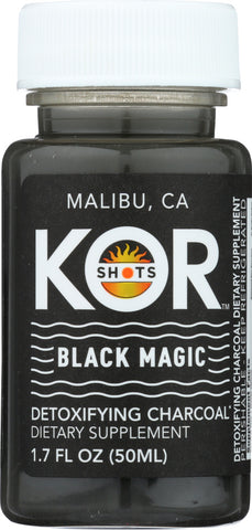 Kor Shots: Black Magic Detoxifying Charcoal Shot, 1.70 Oz