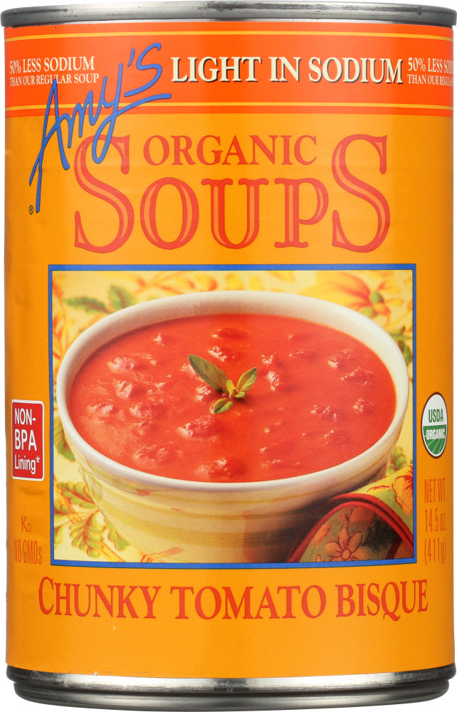 Amy's: Organic Soup Chunky Tomato Bisque Light In Sodium, 14.5 Oz