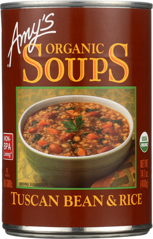 Amy's: Organic Soup Tuscan Bean And Rice, 14.1 Oz