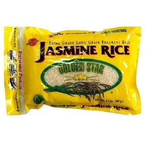 Golden Star: Jasmine Rice Premium Grade, 2 Lb
