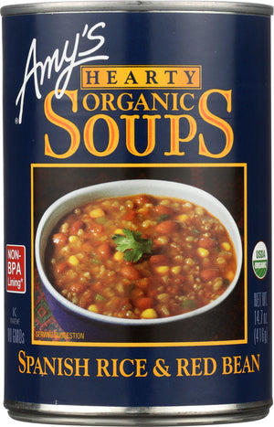 Amy's: Organic Hearty Spanish Rice & Red Bean Soup, 14.7 Oz