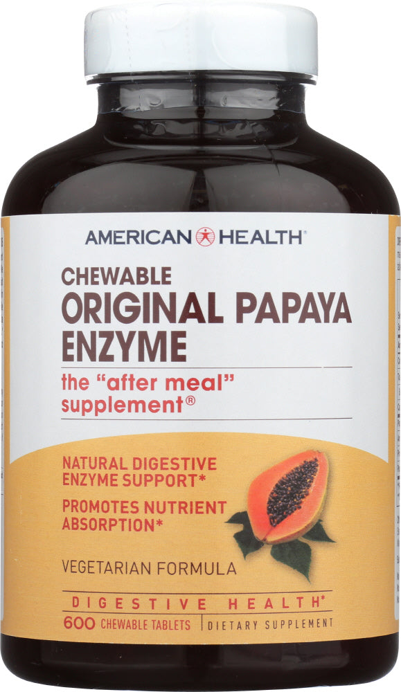American Health: Chewable Original Papaya Enzyme, 600 Tablets