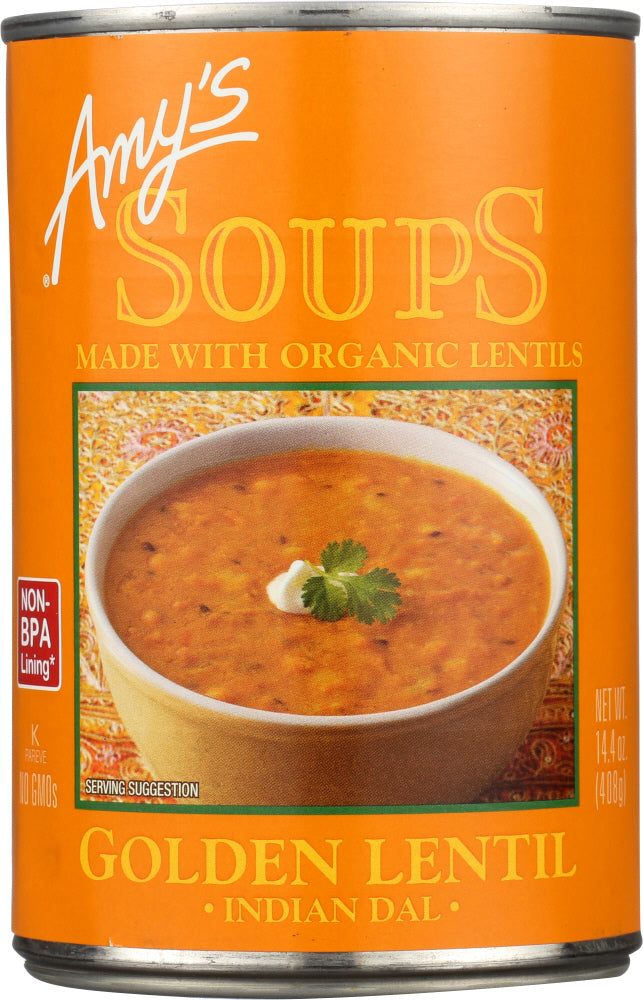 Amy's: Golden Lentil Soup Indian Dal, 14.4 Oz