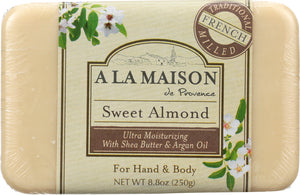 A La Maison: Sweet Almond Bar Soap, 8.8 Oz