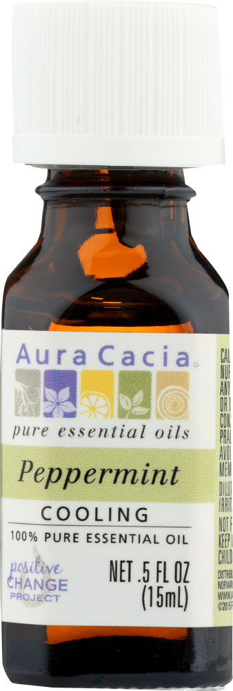 Aura Cacia: 100% Pure Essential Oil Peppermint, 0.5 Oz