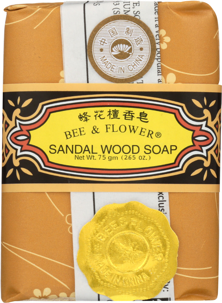 Bee & Flower: Sandal Wood Bar Soap, 2.65 Oz