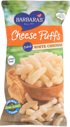 Barbara's Bakery: Cheese Puffs Baked White Cheddar, 5.5 Oz