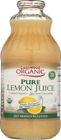 Lakewood Organic: Pure Lemon Juice, 32 Oz