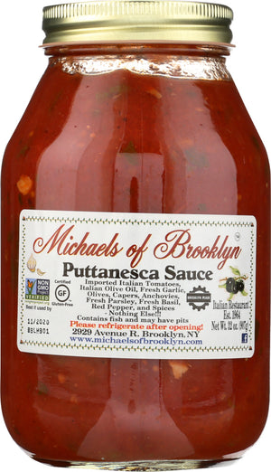 Michaels Of Brooklyn: Puttanesca Sauce, 32 Oz
