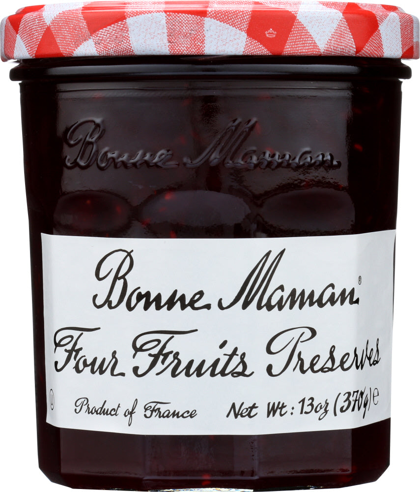 Bonne Maman: Four Fruits Preserves, 13 Oz