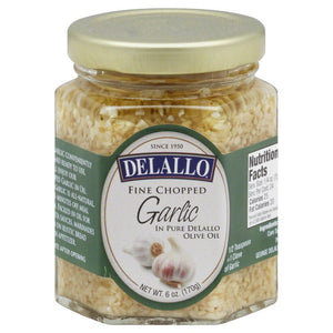Delallo: Fine Chopped Garlic In Olive Oil, 6 Oz