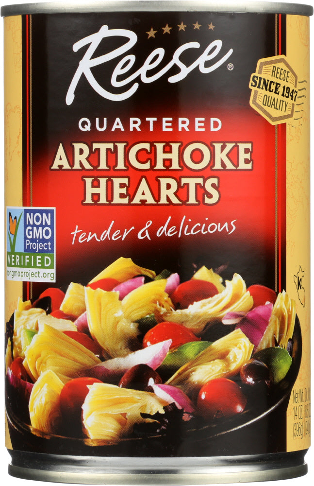 Reese: Quartered Artichoke Hearts, 14 Oz