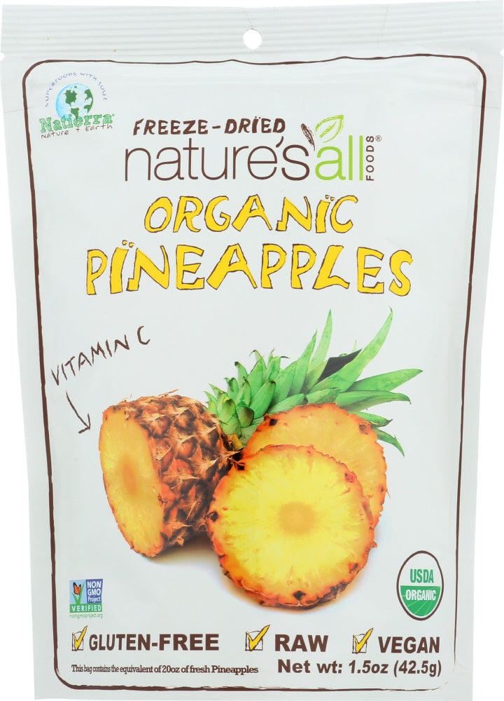 Natierra Nature's All: Organic Freeze Dried Pineapples, 1.5 Oz